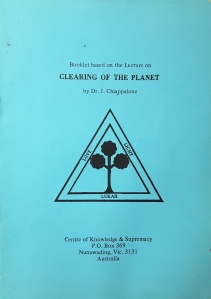 Clearing of the Planet booklet cover